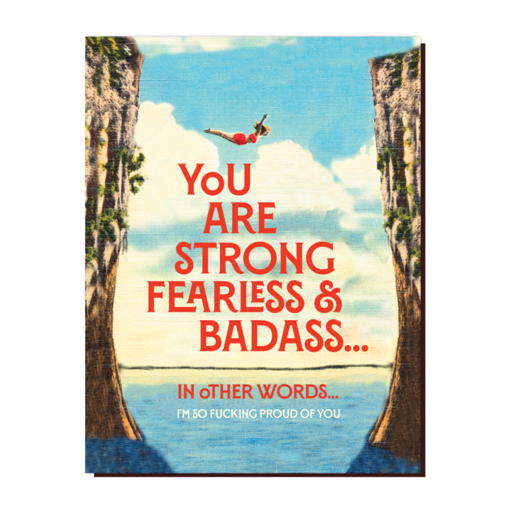 Fearless & Bad Ass  - Greeting Card