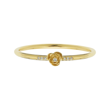 14K Gold Diamond Rose Petal Ring | LA KAISER | JV Studios Boutique