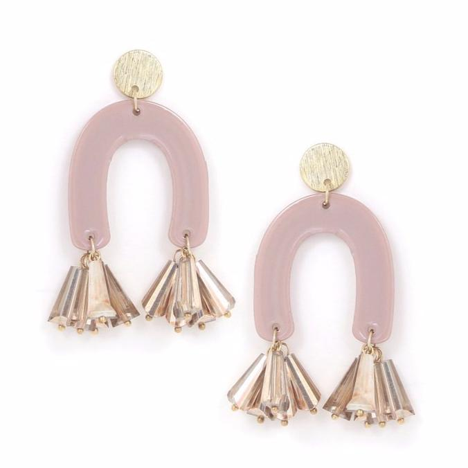 Fette Statement Earrings - Mauve