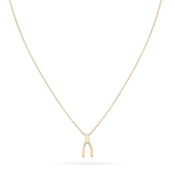 14K Little Wishbone Necklace | BLUBOHO | JV Studios Boutique