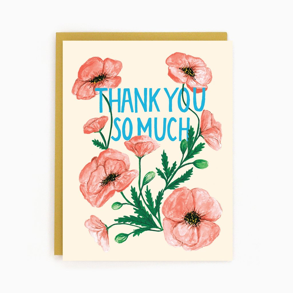 Poppy Thank You - Greeting Card