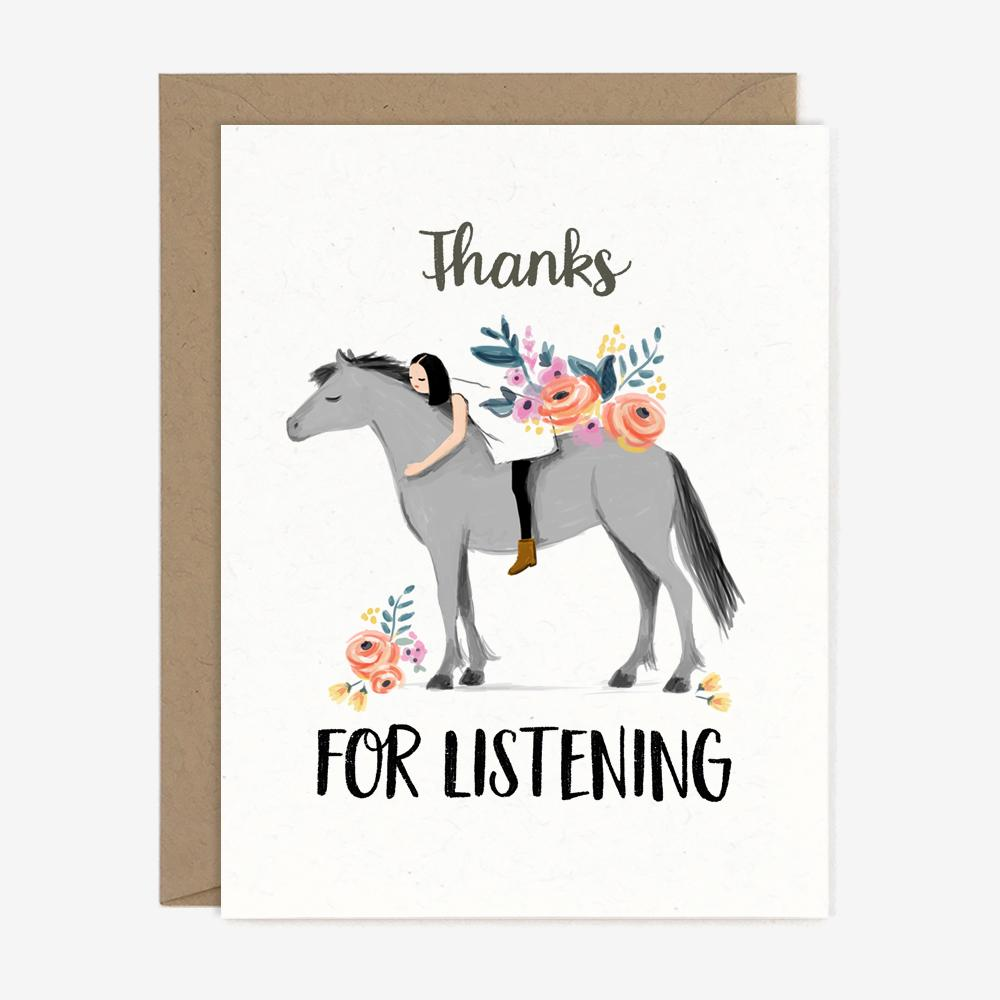 Thanks For Listening - Greeting Card