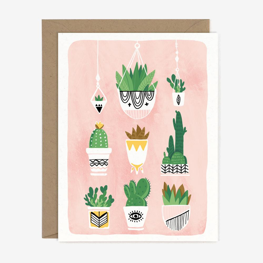 Succulents  - Greeting Card
