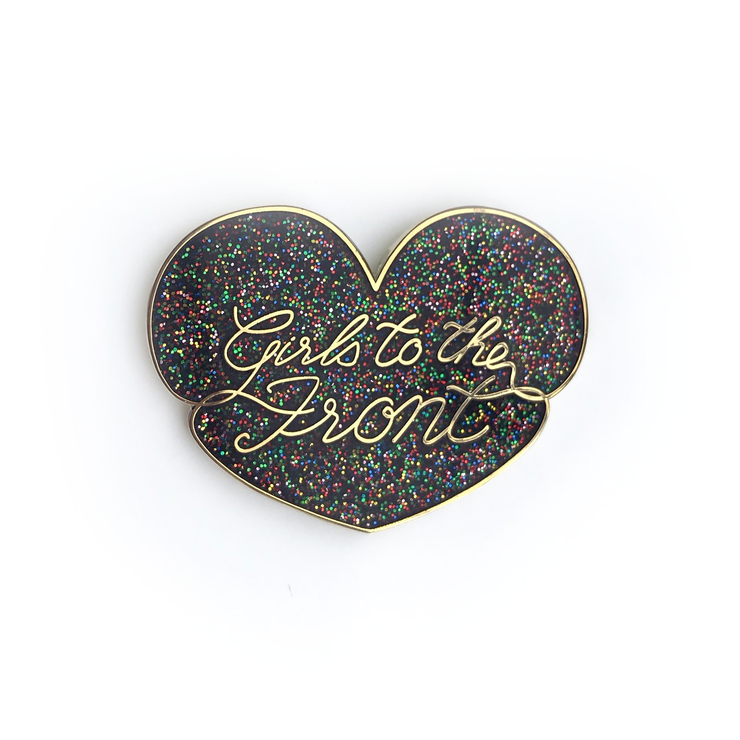 Girls to the Front Enamel Pin