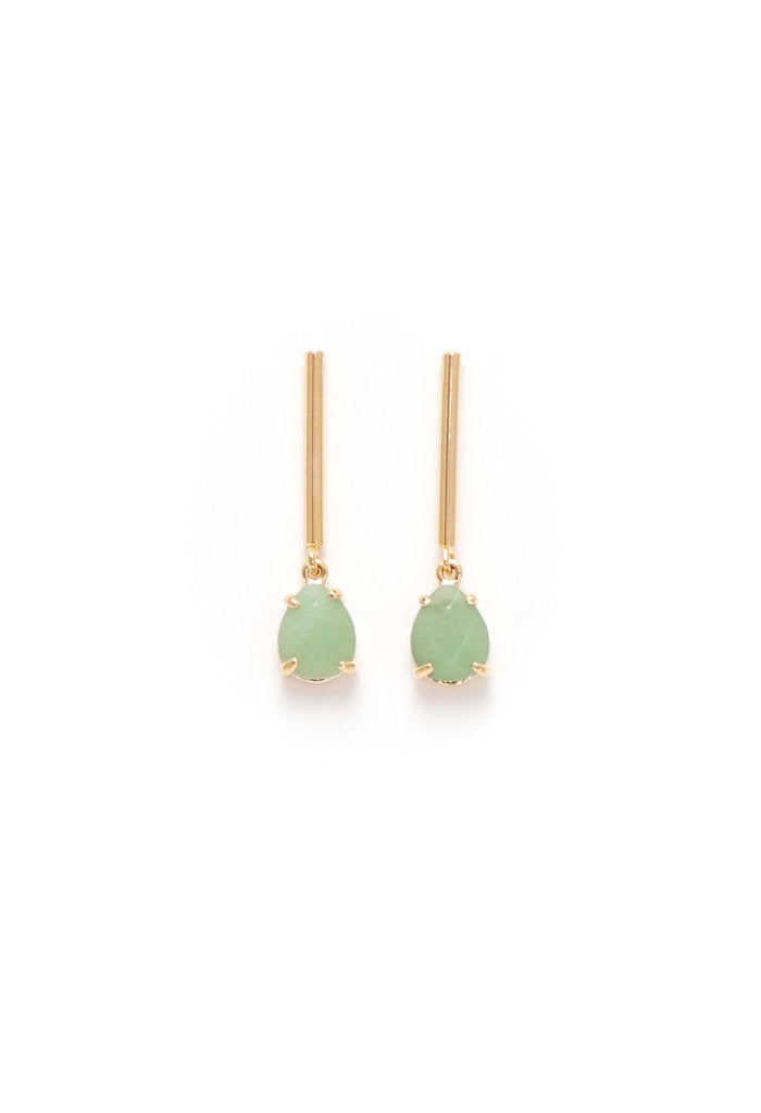 Grace Drop Earrings - Mint