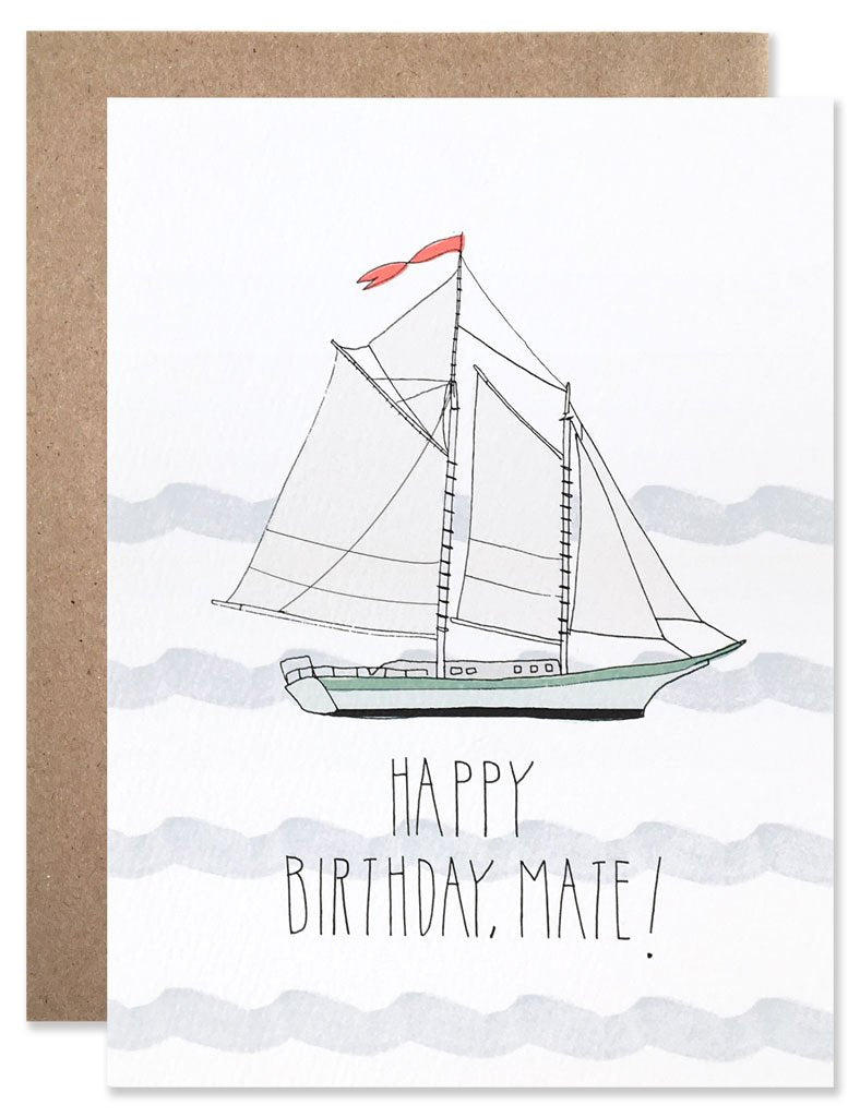 Happy Birthday, Mate! - Greeting Card