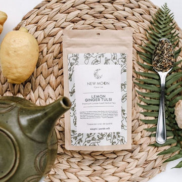 Lemon Ginger Tulsi Tea | NEW MOON TEA CO