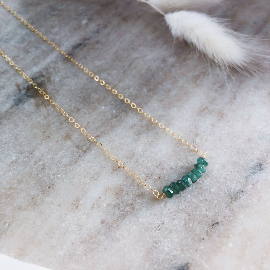 Mawe Necklace - Emerald | JASMINE VIRANI