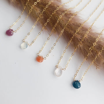 Gemstone Drop Necklace | JASMINE VIRANI