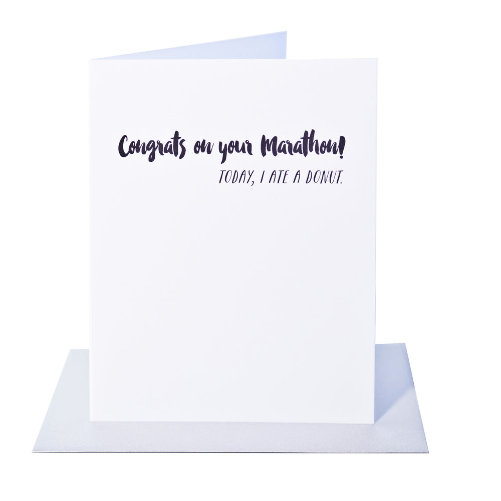 Congrats On Your Marathon - Greeting Card