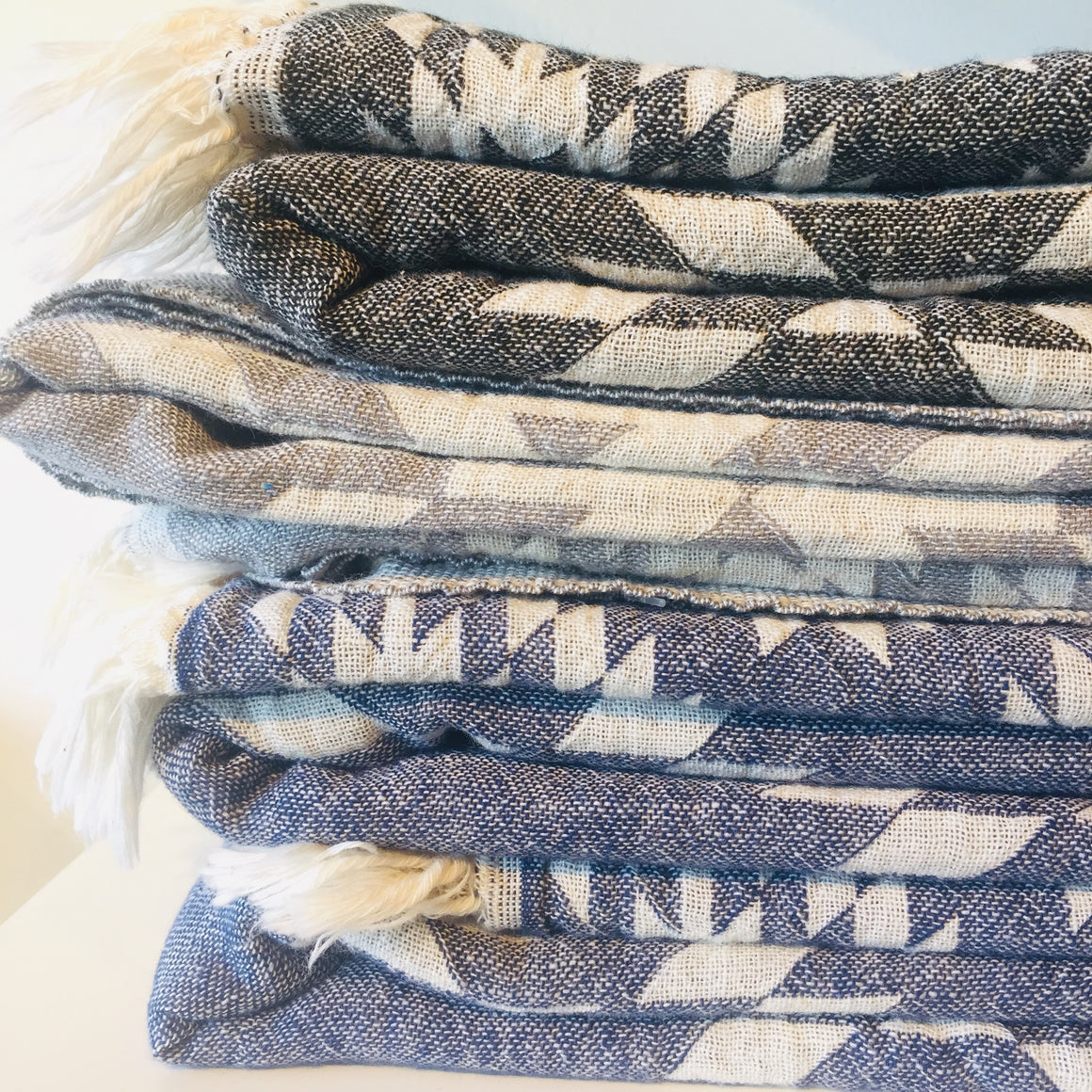 Turkish Towel - Geometric (Assorted Colours)