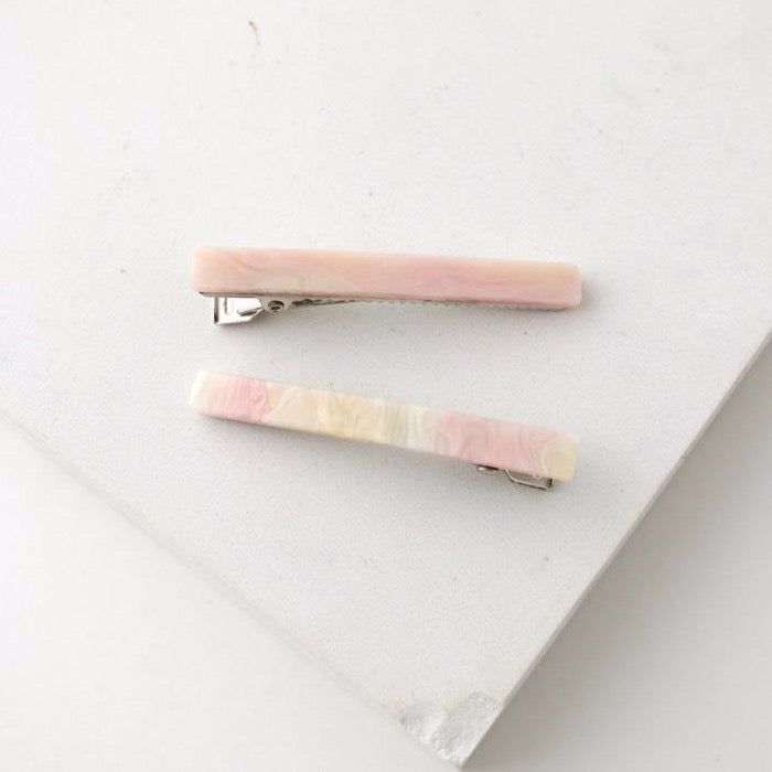 Florence Hair Clips - Pink | LOVER'S TEMPO