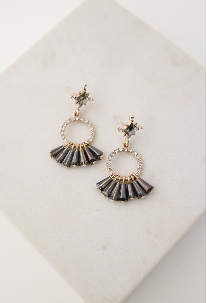 Jolene Drop Earrings - Smoke