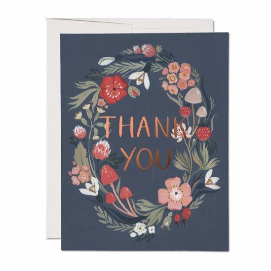 Thank You Wreath - Greeting Card