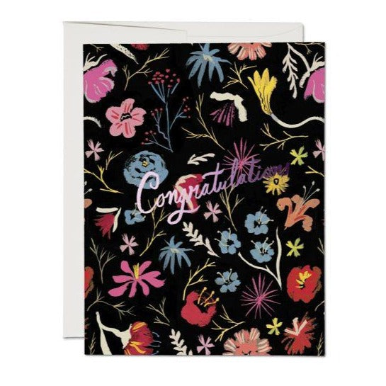 Lots of Flowers Congratulations - Greeting Card