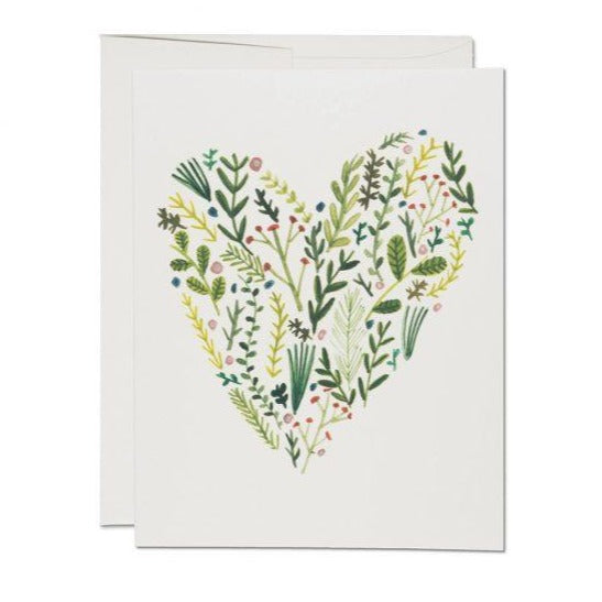Floral Heart - Greeting Card