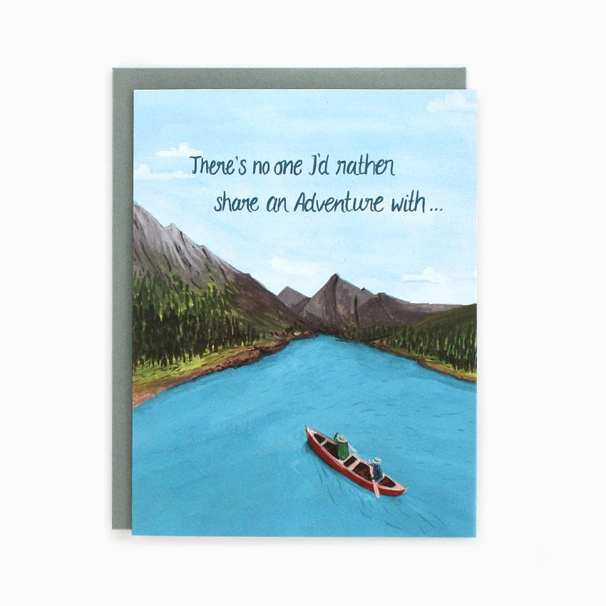 Canoe - Greeting Card