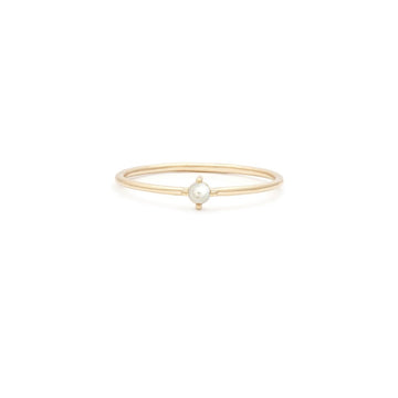 14K Element Ring - Pearl | LEAH ALEXANDRA | JV Studios Boutique