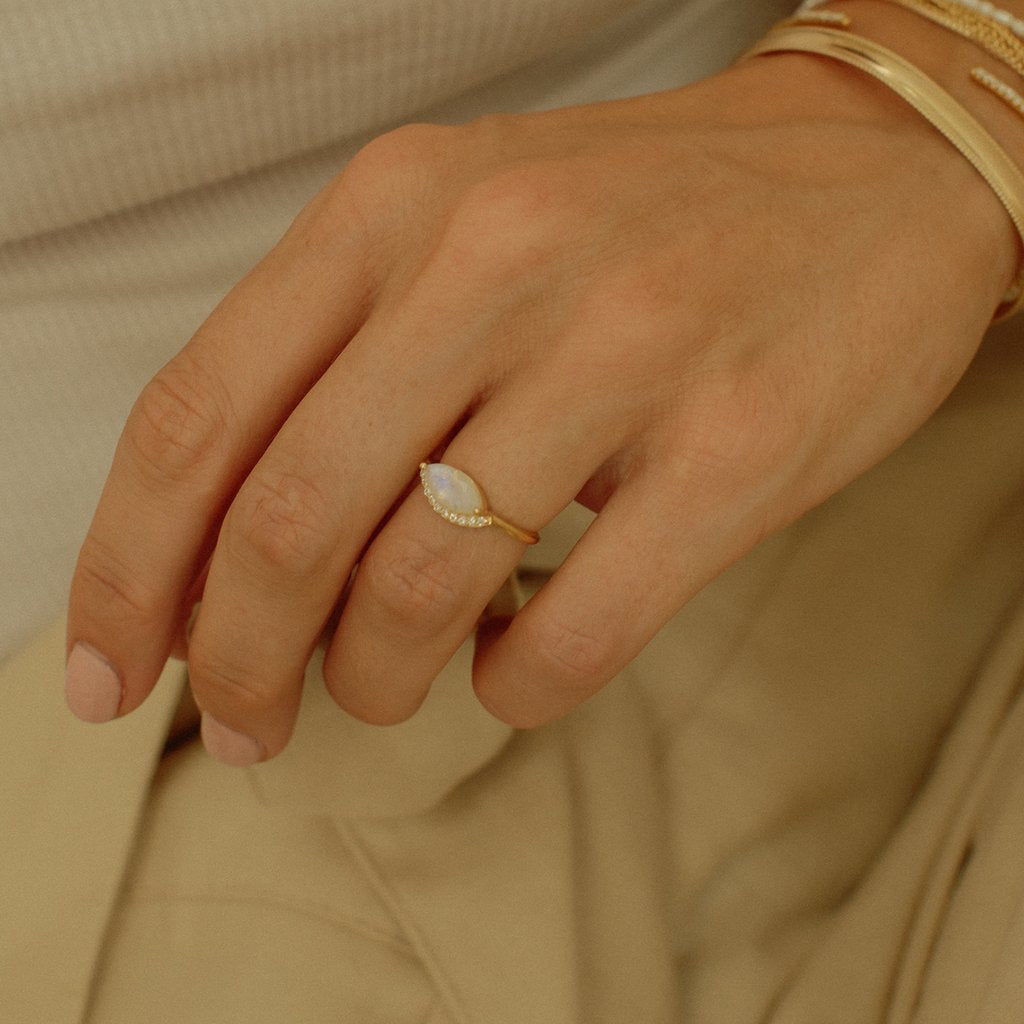 Domingo Ring - Moonstone  | LEAH ALEXANDRA