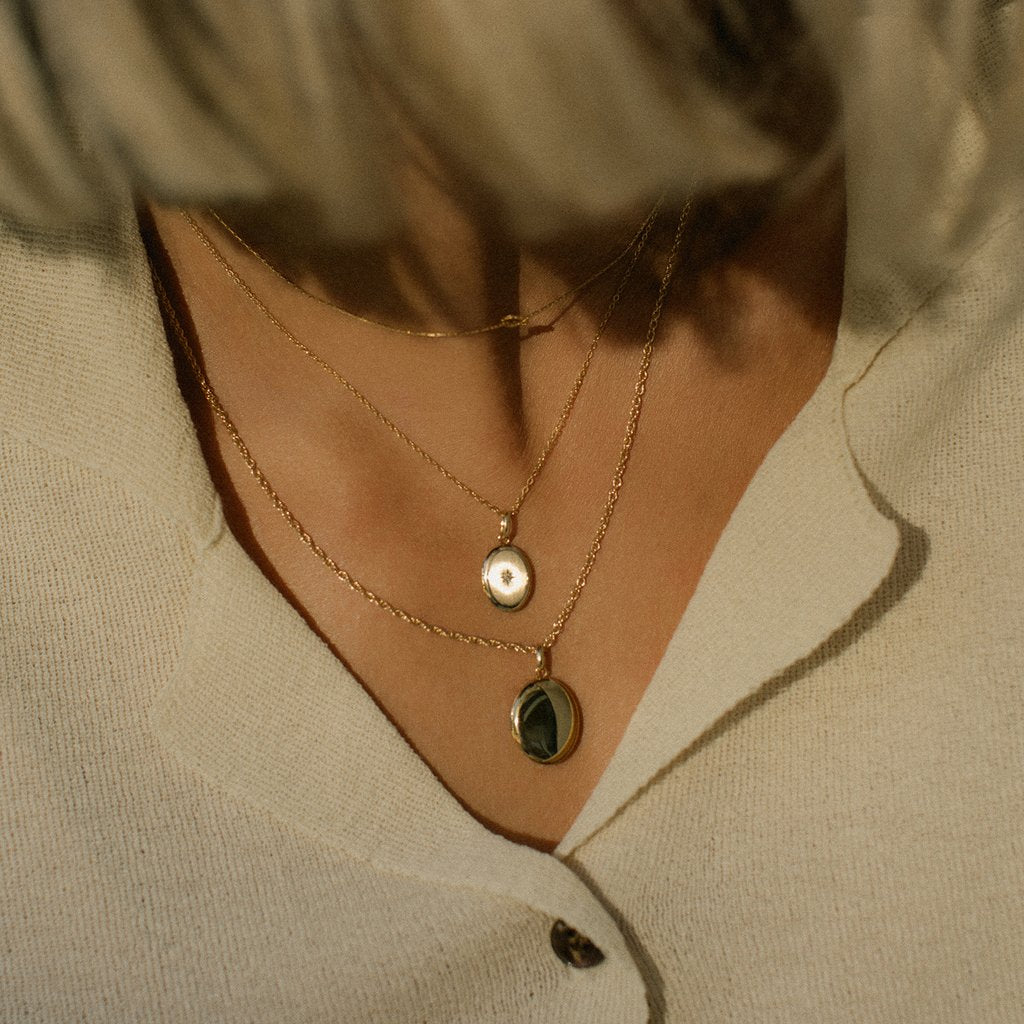 Classic Oval Locket Necklace | LEAH ALEXANDRA