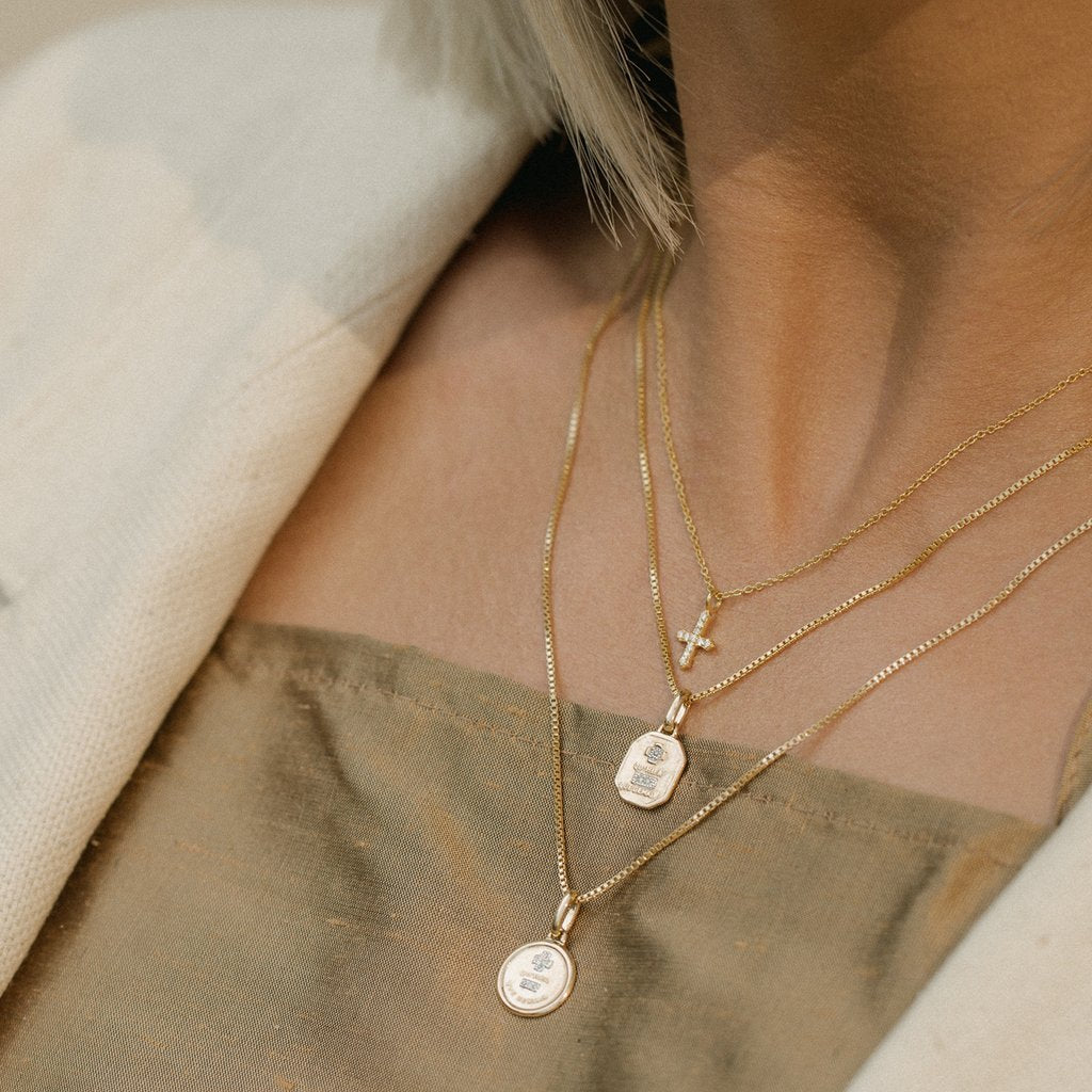 Love Token Necklace - Circle | LEAH ALEXANDRA | JV Studios Boutique