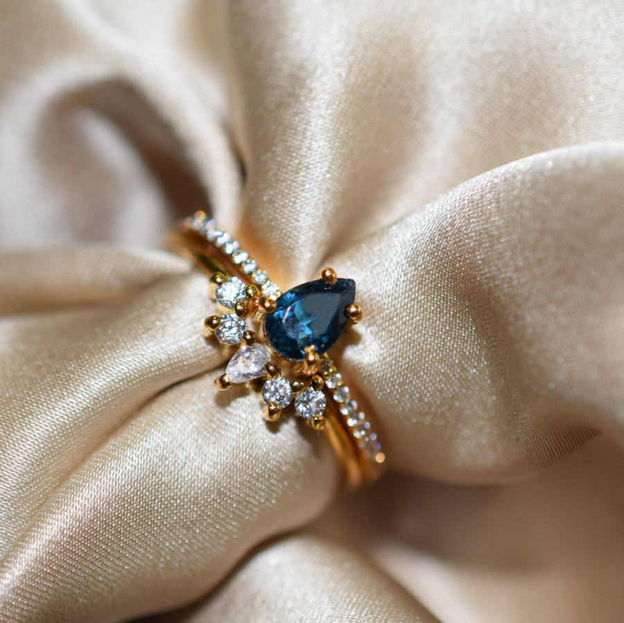 Blue Topaz & Diamond Dancing Unicorn Stack | LA KAISER