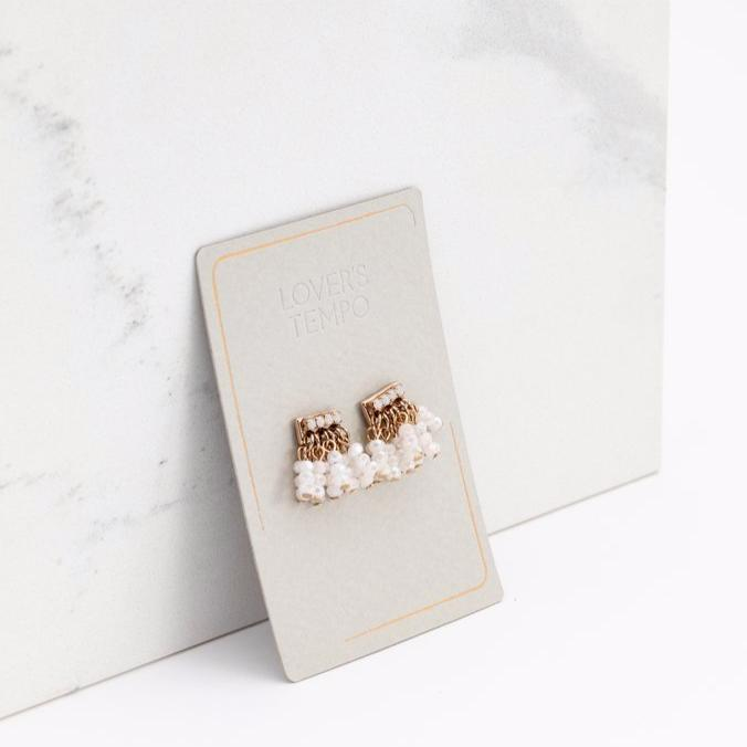 Triumph Beaded Post Earrings | LOVER'S TEMPO