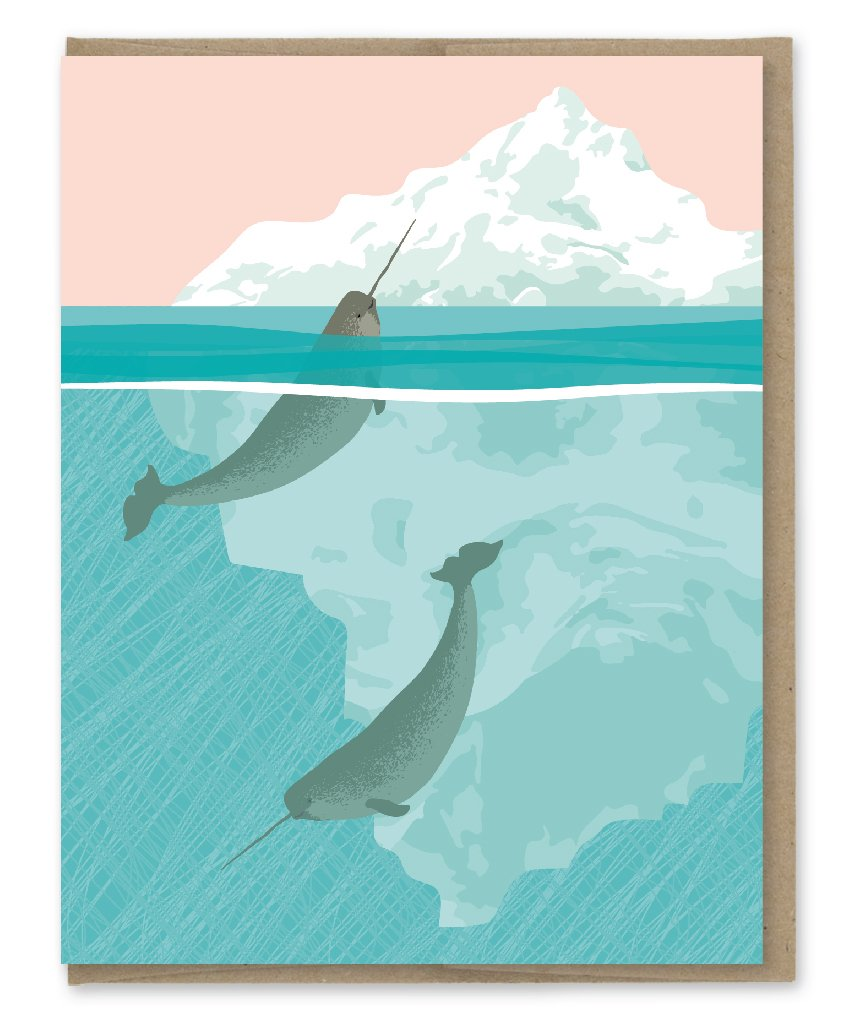 Narwhals - Greeting Card