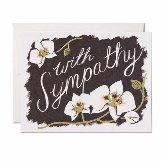 Orchid Sympathy - Greeting Card