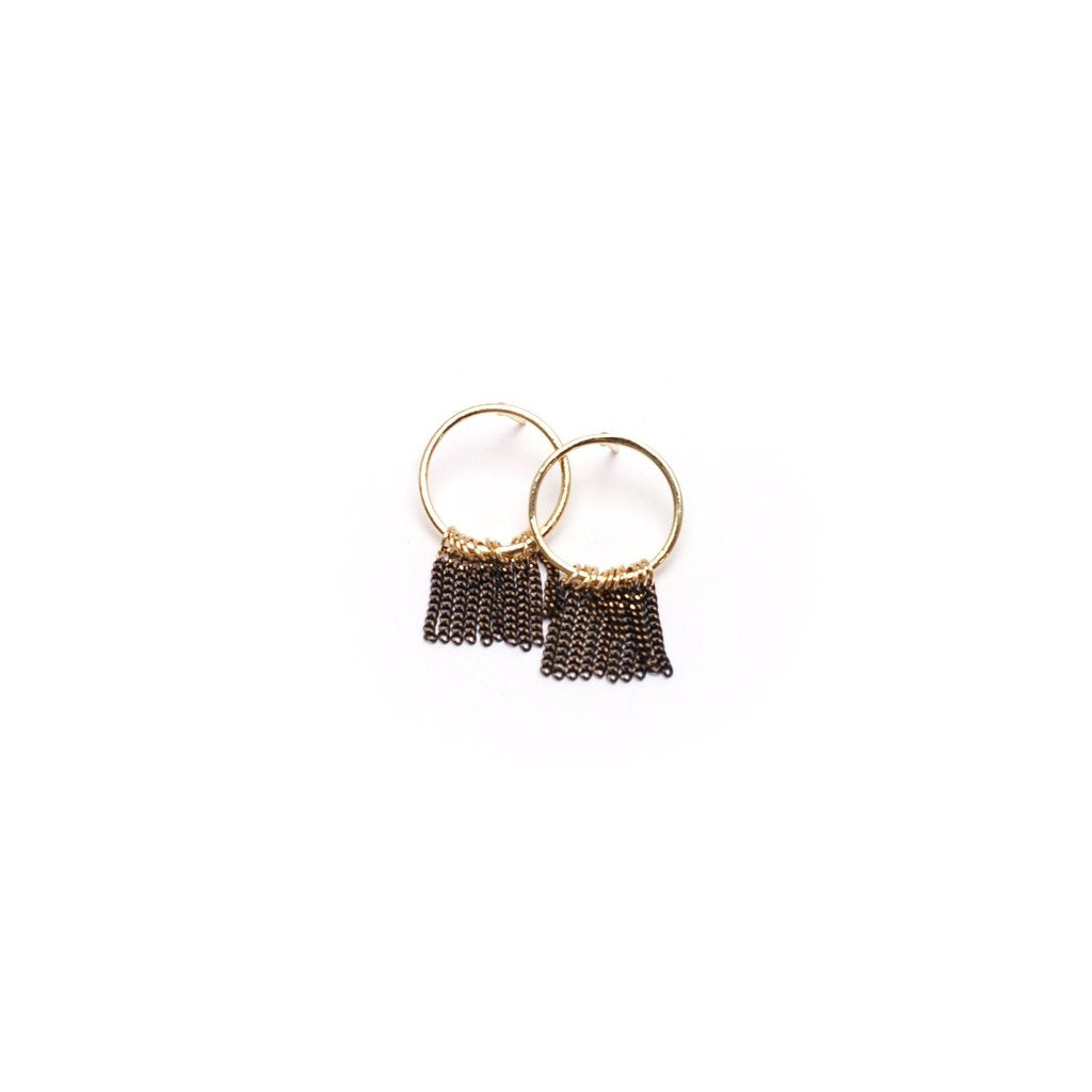 Olympia Fringe Hoops Earrings | LOVER'S TEMPO