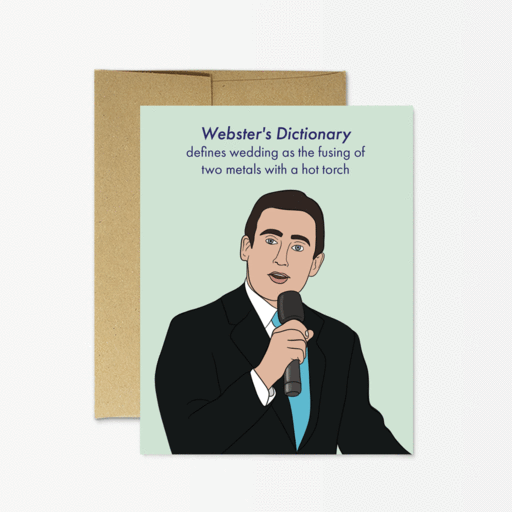 Michael Scott Wedding - Greeting Card