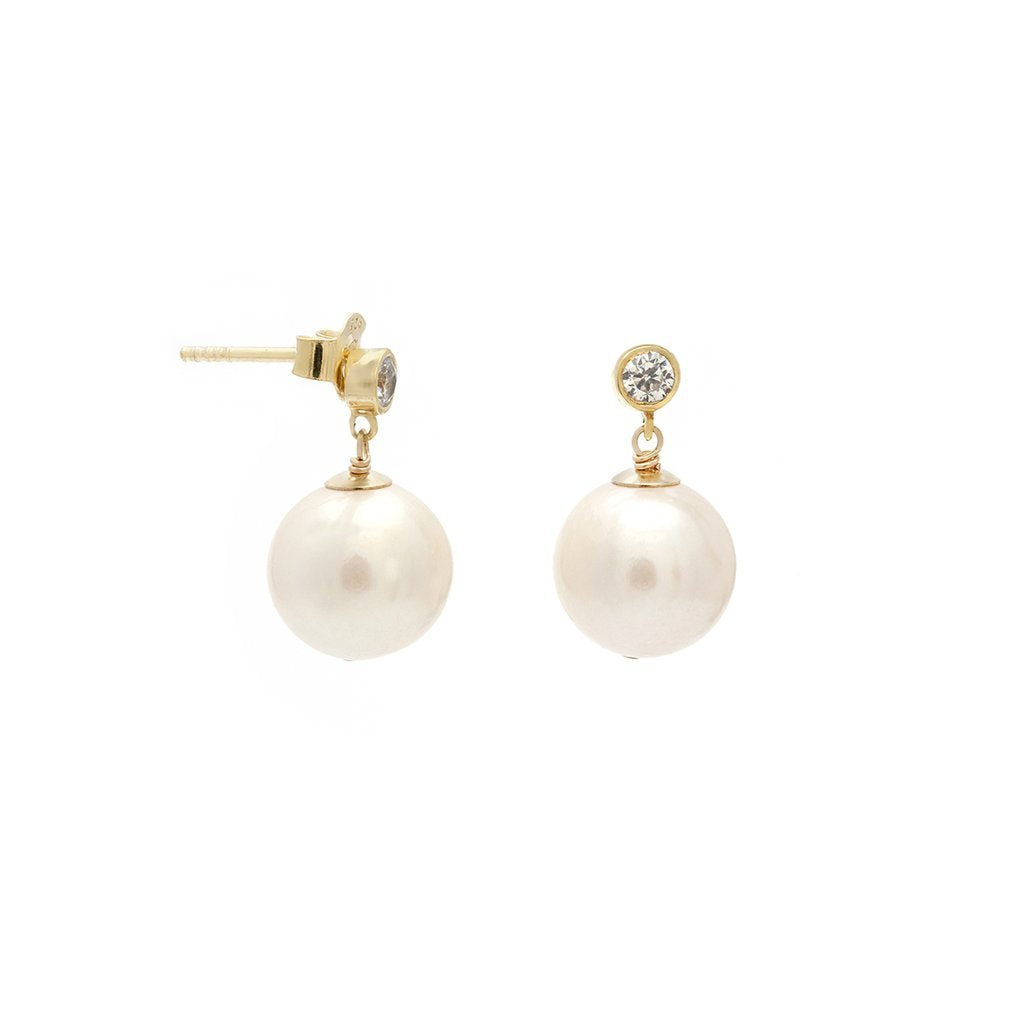 Pila Earrings - Pearl | LEAH ALEXANDRA