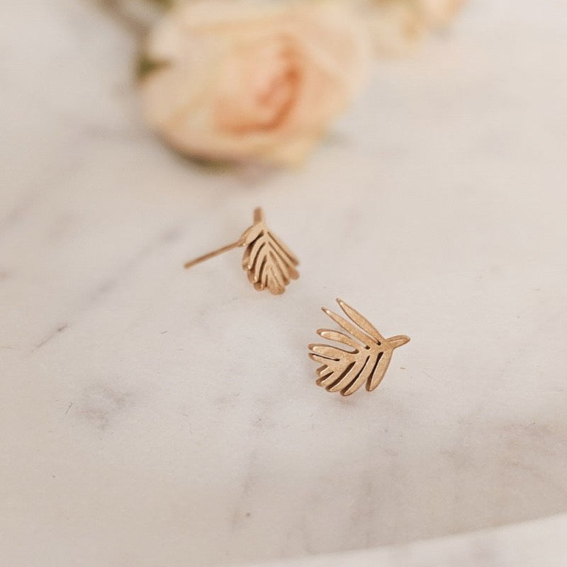 Palm Leaf Earrings | MIMI & AUGUST