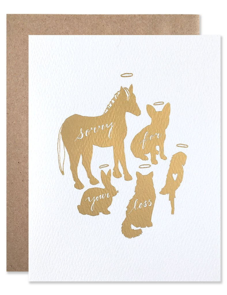 Gold Foil Pet Loss - Greeting Card
