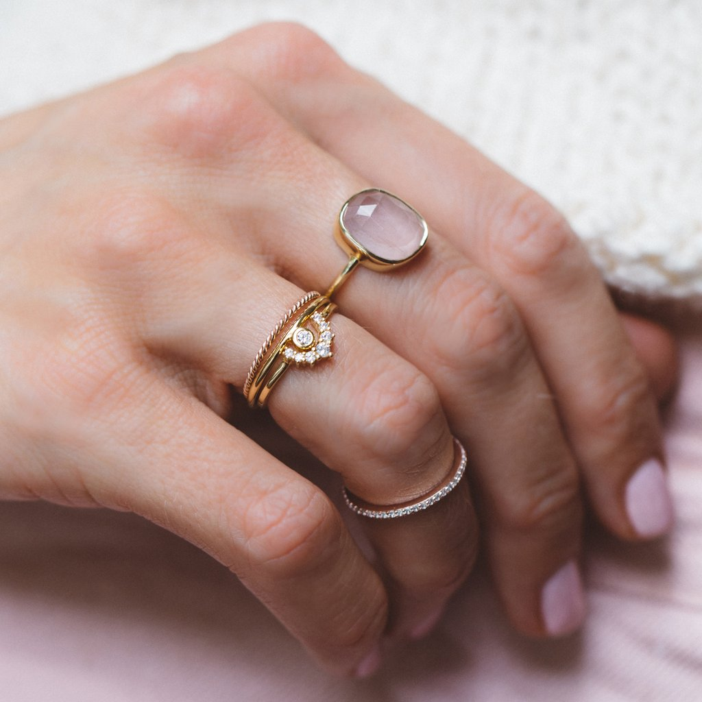 Aura Ring - Rose Quartz