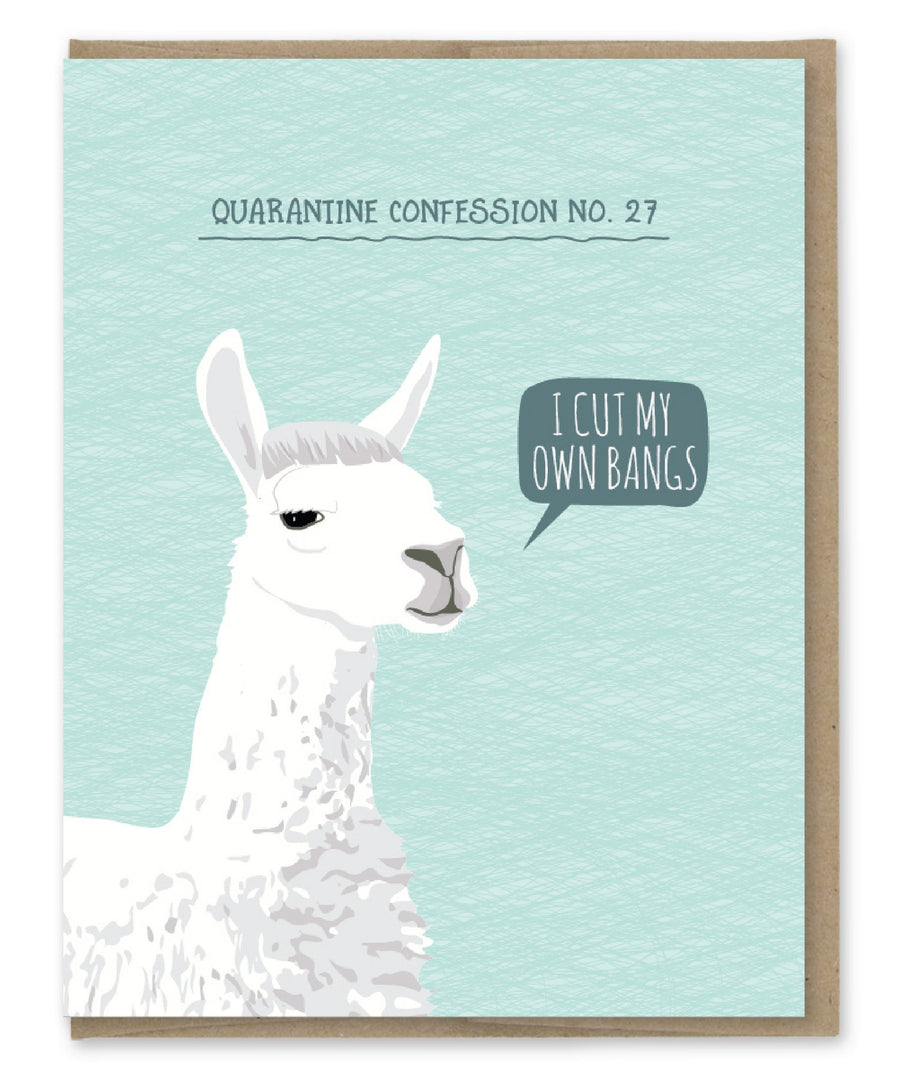 Quarantine Llama - Greeting Card