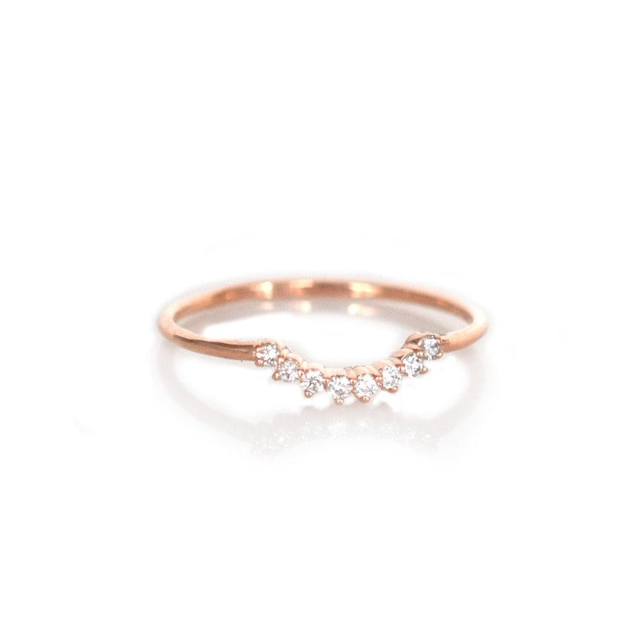 14K Rose Gold Diamond Cascade Ring | LA KAISER | JV Studios Boutique
