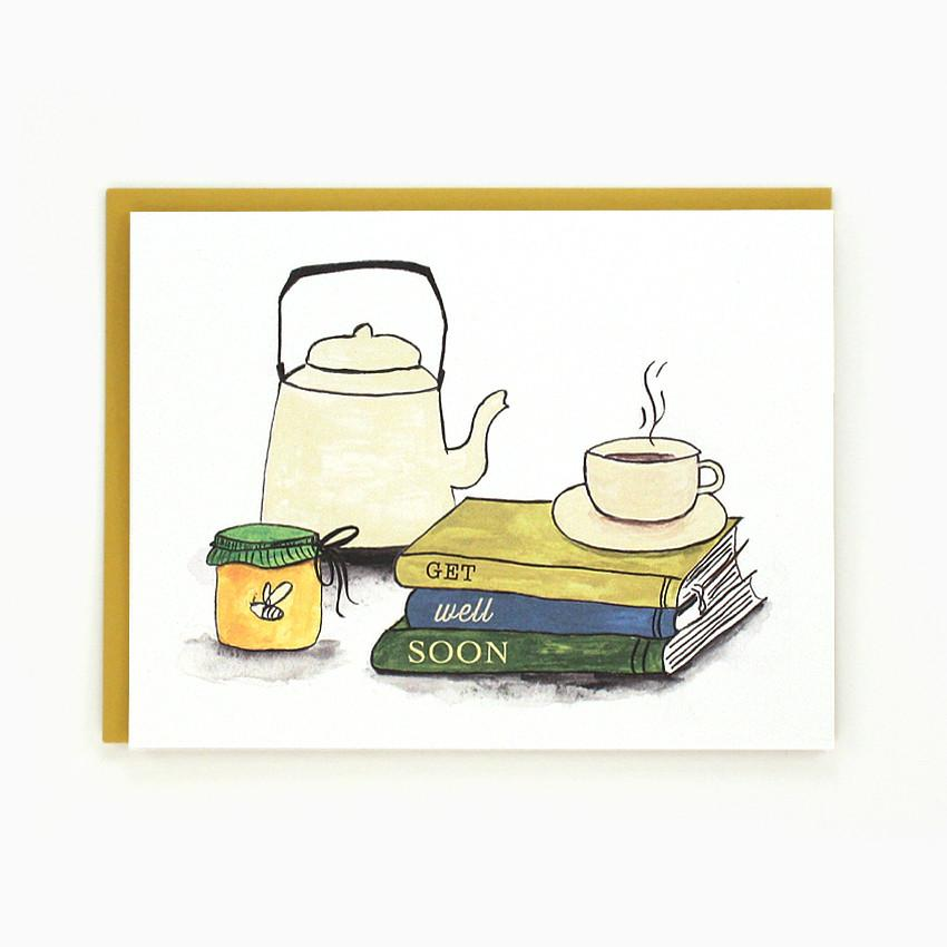 Books & Tea - Greeting Card