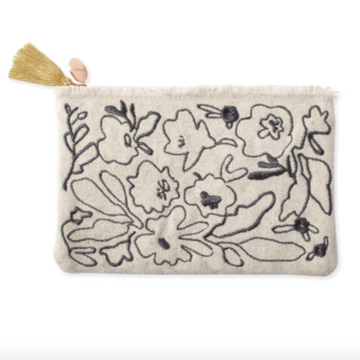 Messy Flower Canvas Pouch