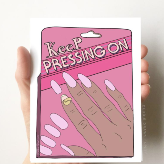 Keep Pressing On - Greeting Card