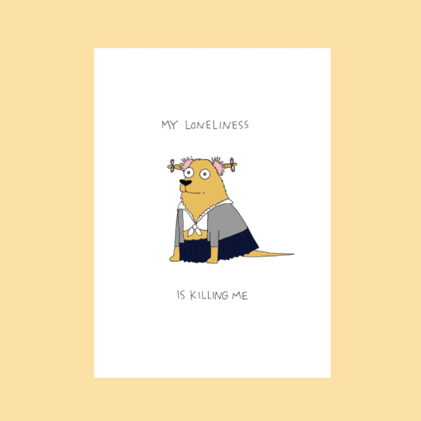 My Loneliness - Greeting Card