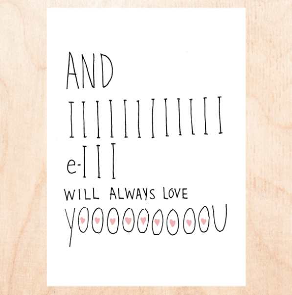 I Will Always Love You - Greeting Card