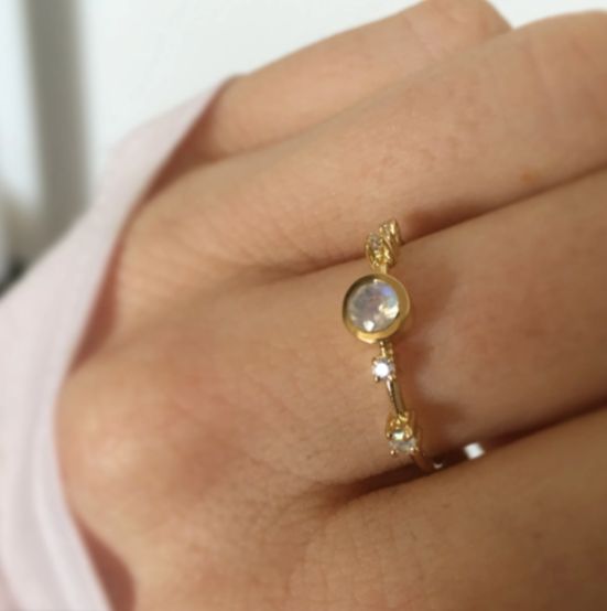 Moonstone & Diamond Constellation Ring | LA KAISER | JV Studios Boutique
