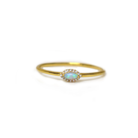 Mini Opal Eye Ring | LA KAISER | JV Studios Boutique