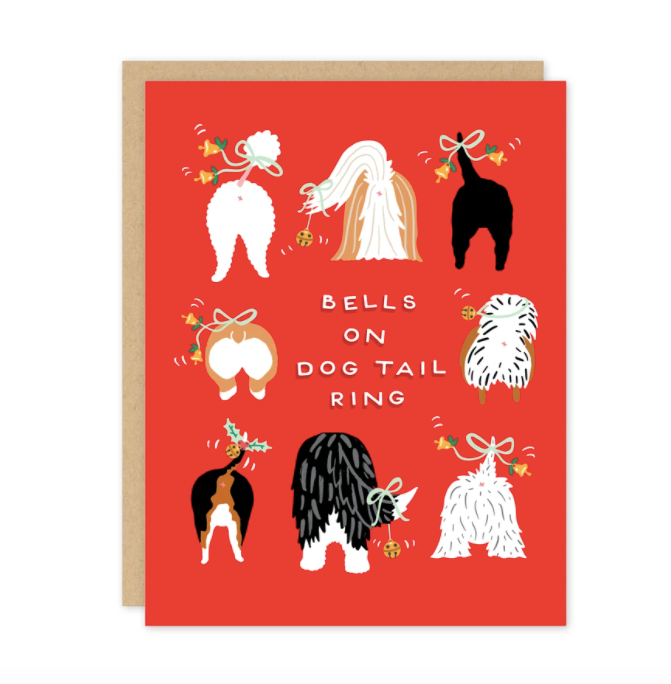 Bells On Dog Tails Ring - Greeting Card