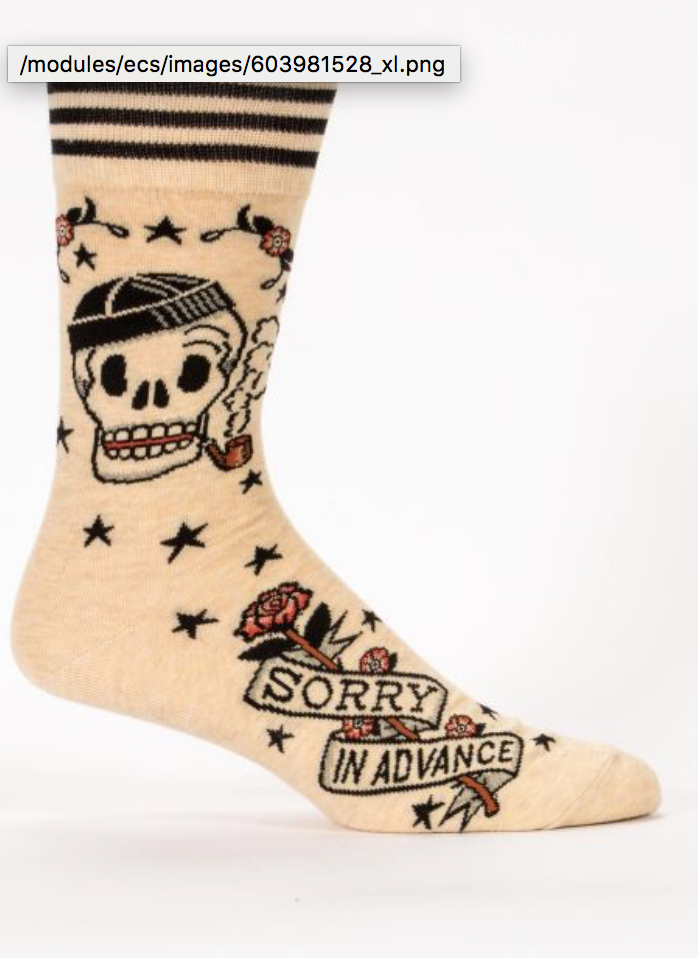 Sorry In Advance Socks - Men