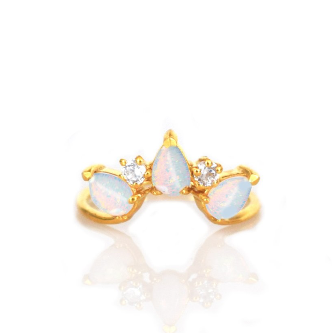 Opal & Diamond Archer Ring