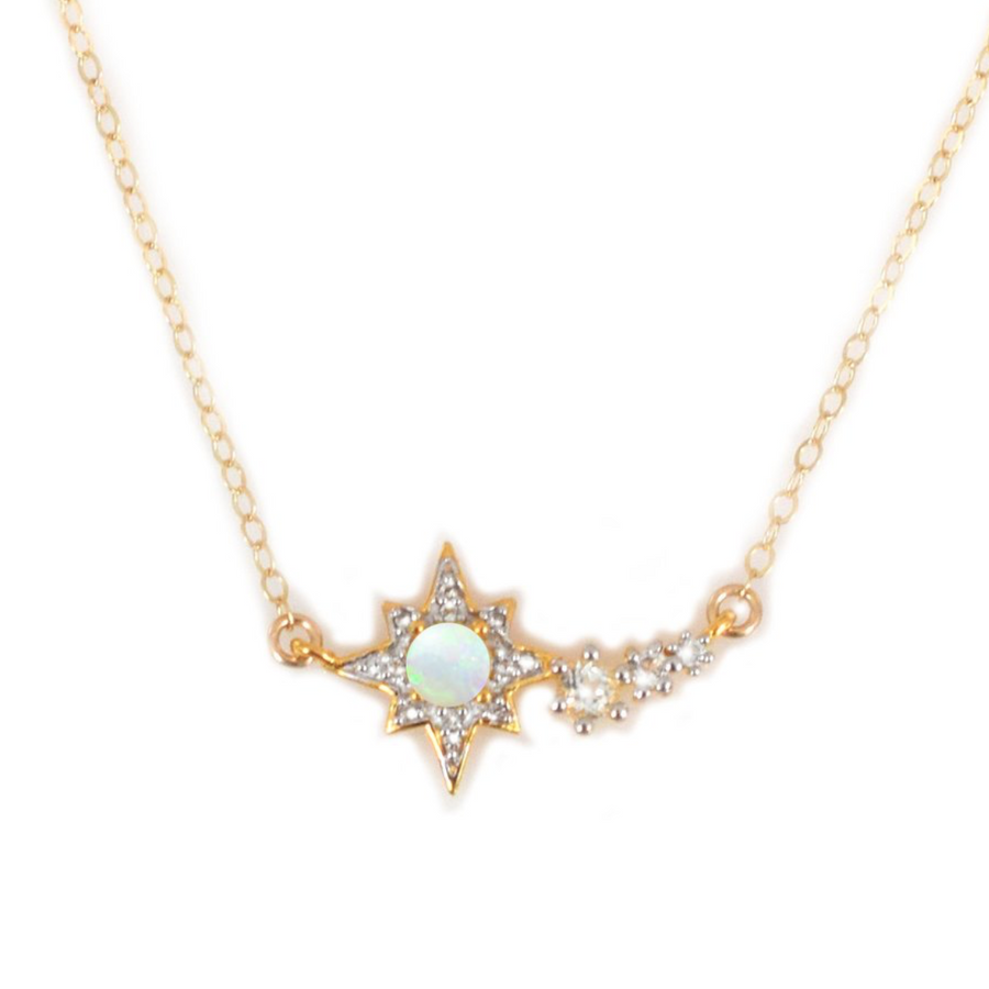 Opal & Topaz Shooting Star Necklace | LA KAISER | JV Studios Boutique
