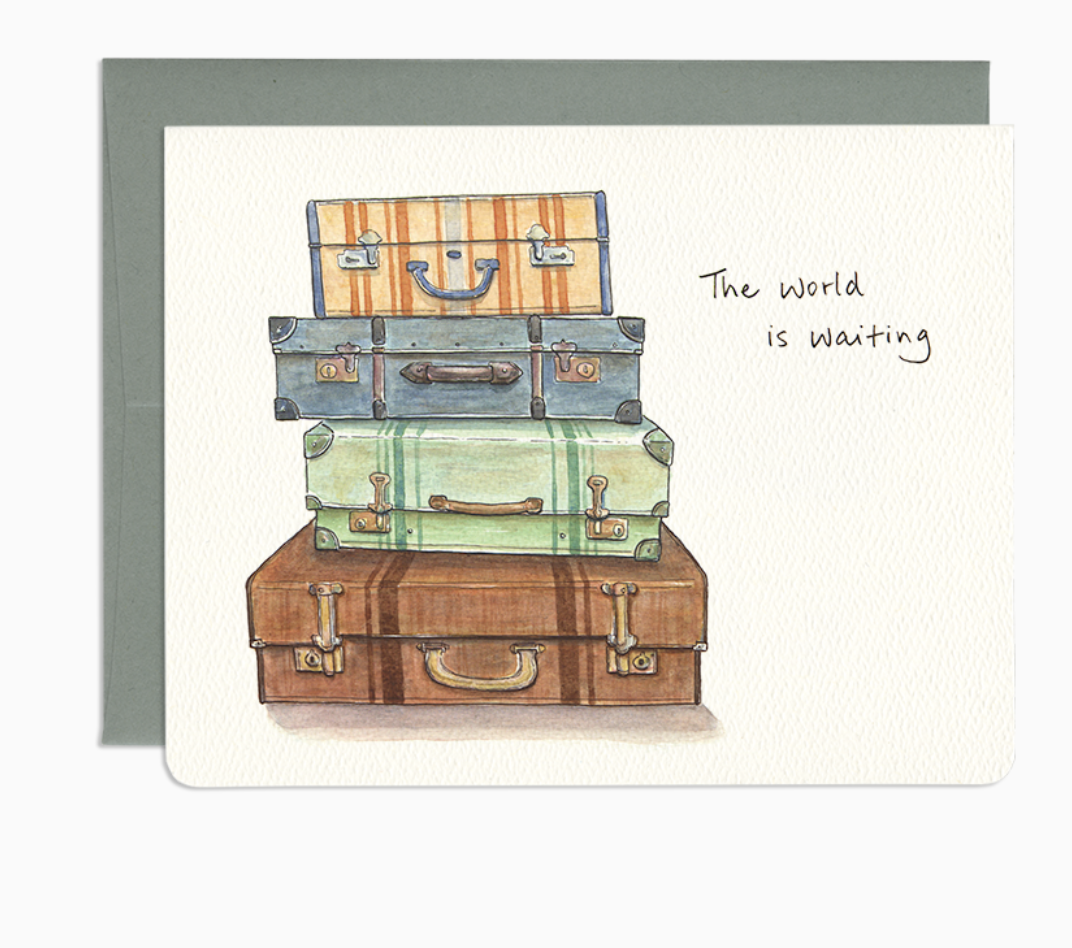 The World Is Waiting  - Greeting Card