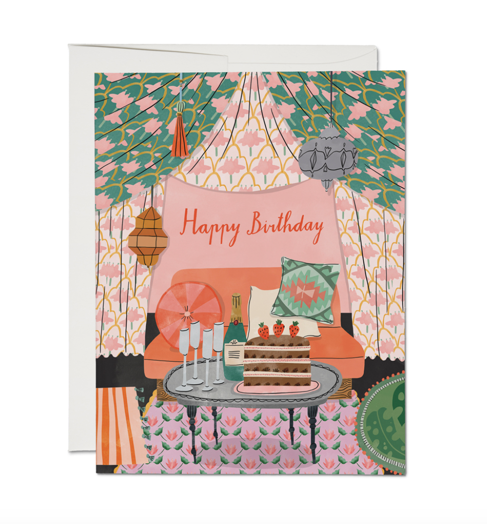 Nomad Tent Birthday - Greeting Card